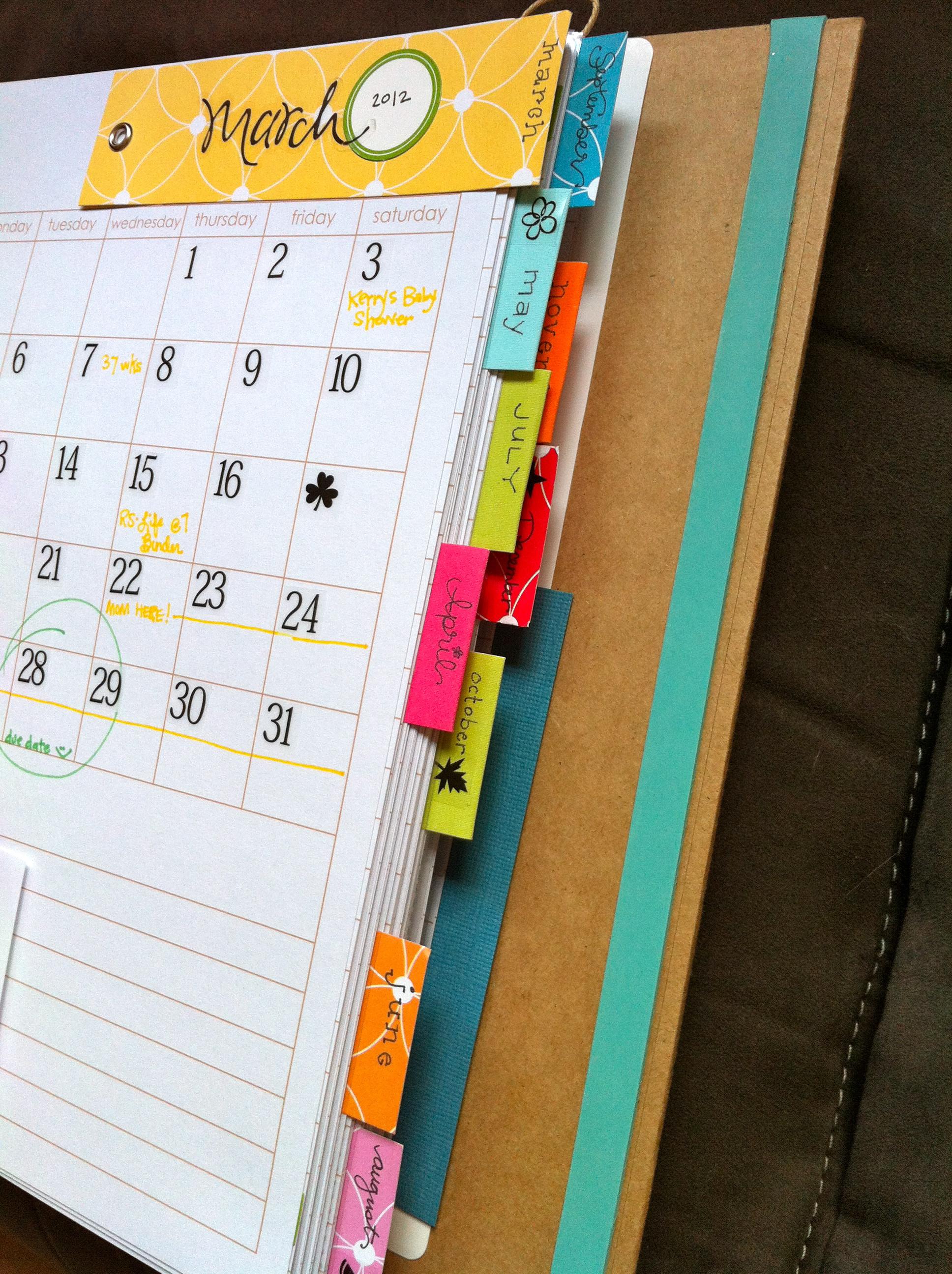 Scrapbook ideas calendar pages - Img_2061