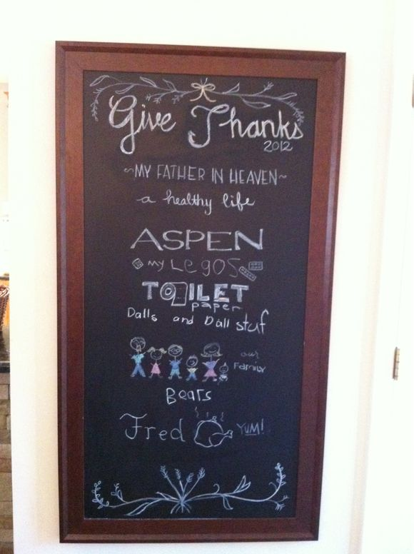 Our Thankful List 2012